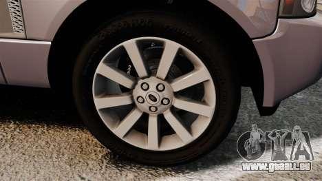 Range Rover Supercharged für GTA 4 Rückansicht