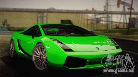 Lamborghini Gallardo Superleggera pour GTA San Andreas vue arrière