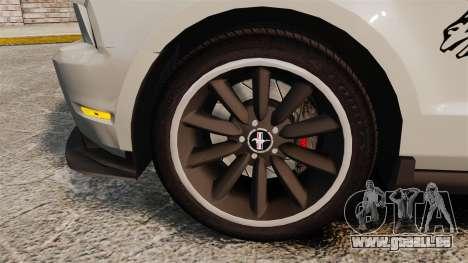 Ford Mustang 2012 Boss 302 Fiery Horse für GTA 4 Rückansicht