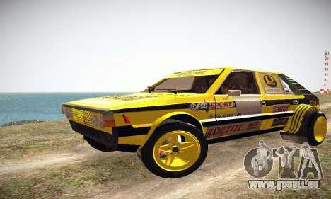 FSO Polonez 2500 Racing 1978 pour GTA San Andreas laissé vue