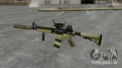 M4 carabine avec silencieux v1 pour GTA 4 troisième écran