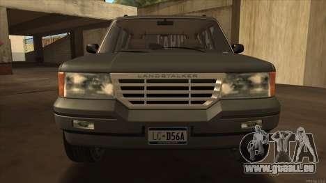 Landstalker HD from GTA 3 pour GTA San Andreas sur la vue arrière gauche