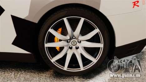Nissan GT-R Black Edition 2012 Ski Slope Camo pour GTA 4 Vue arrière
