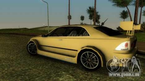 Lexus IS200 pour GTA Vice City vue latérale