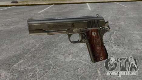 Colt M1911 pistolet v4 pour GTA 4 troisième écran