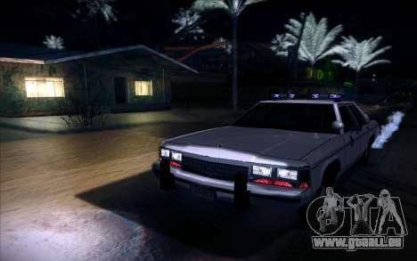 Police North Yankton pour GTA San Andreas sur la vue arrière gauche