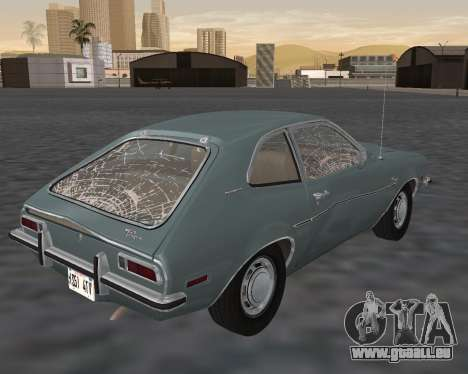 Ford Pinto 1973 pour GTA San Andreas salon