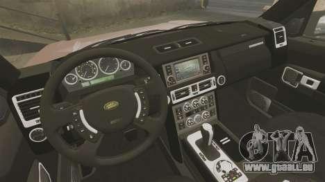 Range Rover TDV8 Vogue pour GTA 4 est une vue de l'intérieur