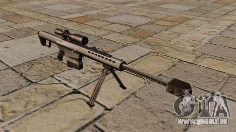 Barrett M82A1 fusil de sniper pour GTA 4