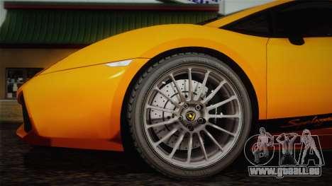 Lamborghini Gallardo Superleggera pour GTA San Andreas vue de côté
