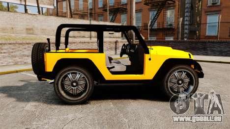Jeep Wrangler Rubicon 2012 pour GTA 4 est une gauche