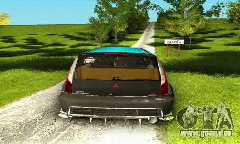 Mitsubishi Evo IX Wagon S-Tuning pour GTA San Andreas vue de dessus