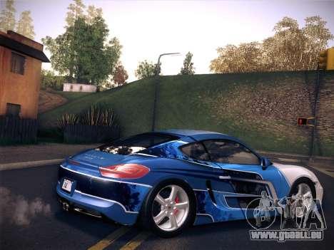 Porsche Cayman S 2014 pour GTA San Andreas laissé vue