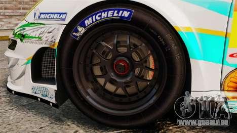 Porsche GT3 RSR 2008 Hatsune Miku für GTA 4 Rückansicht