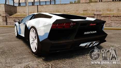 Lamborghini Aventador LP700-4 LE-C 2014 pour GTA 4 Vue arrière de la gauche