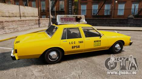 Chevrolet Caprice 1987 L.C.C. Taxi für GTA 4 linke Ansicht