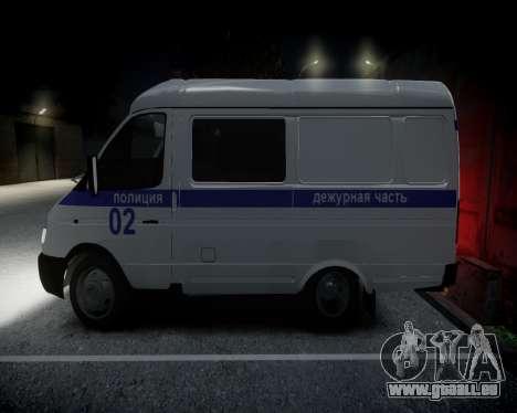Gazelle 2705 Polizei für GTA 4 hinten links Ansicht