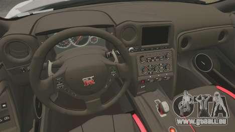 Nissan GT-R Black Edition 2012 Ski Slope Camo pour GTA 4 est une vue de l'intérieur
