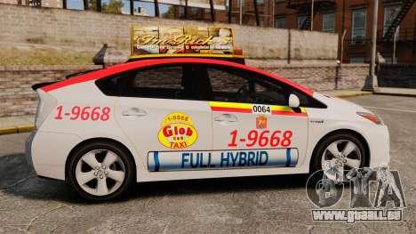 Toyota Prius 2011 Warsaw Taxi v4 pour GTA 4 est une gauche