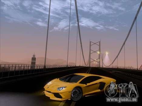 Lamborghini Aventador LP720-4 2013 pour GTA San Andreas salon