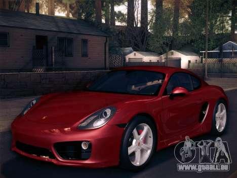 Porsche Cayman S 2014 pour GTA San Andreas moteur