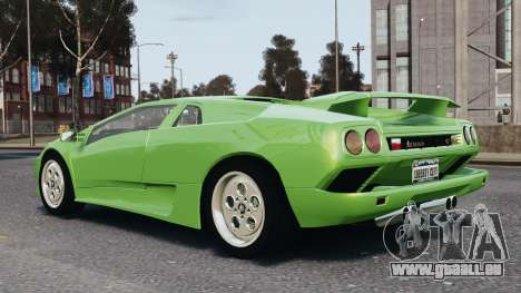 Lamborghini Diablo VT 1994 für GTA 4 obere Ansicht