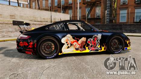 Porsche GT3 RSR 2008 Ddevil pour GTA 4 est une gauche