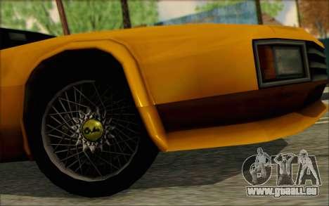 VC Cheetah pour GTA San Andreas vue de droite
