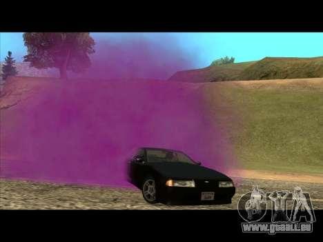 Die neue Farbe der Rauch unter die Räder für GTA San Andreas