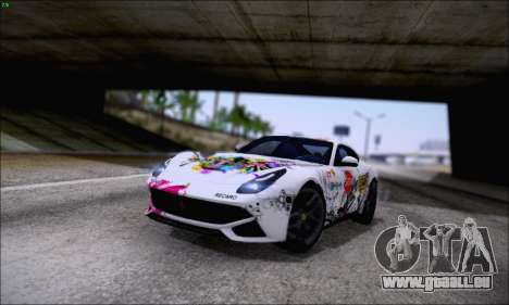 Ferrari F12 Berlinetta Horizon Wheels für GTA San Andreas Innenansicht