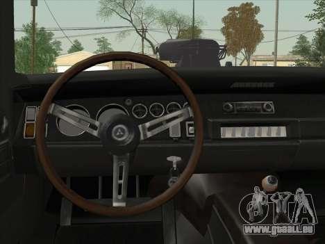 Dodge Charger RT V2 pour GTA San Andreas vue intérieure