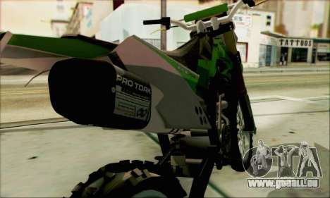 Kawasaki KLX 150 SE für GTA San Andreas rechten Ansicht