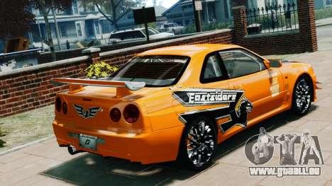 Nissan Skyline R34 GT-R NFS Underground pour GTA 4 est une gauche