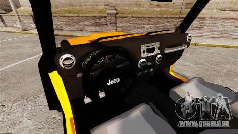 Jeep Wrangler Rubicon 2012 pour GTA 4 Vue arrière
