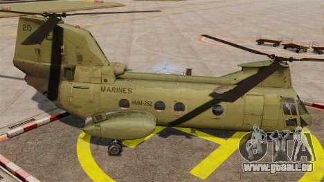 Boeing CH-46D Sea Knight für GTA 4 linke Ansicht