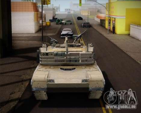Abrams Tank Indonesia Edition pour GTA San Andreas sur la vue arrière gauche