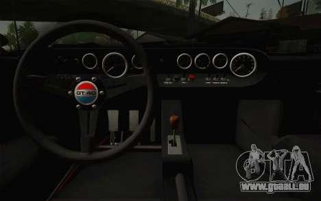 Ford GT40 MkI 1965 für GTA San Andreas Innenansicht