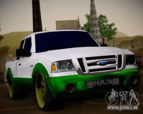 Ford Ranger 2005 pour GTA San Andreas vue de dessus