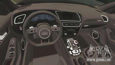 Audi RS4 Avant VVS-CV4 2013 pour GTA 4 est une vue de l'intérieur