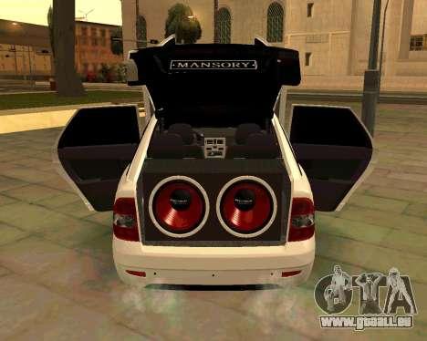 Lada 2172 Priora für GTA San Andreas obere Ansicht