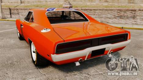 Dodge Charger 1969 General Lee v2.0 HD Vinyl pour GTA 4 Vue arrière de la gauche