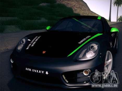 Porsche Cayman S 2014 für GTA San Andreas obere Ansicht