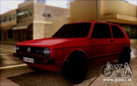 Volkswagen Golf Mk1 TAS pour GTA San Andreas