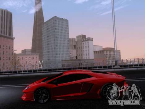 Lamborghini Aventador LP720-4 2013 pour GTA San Andreas vue de côté