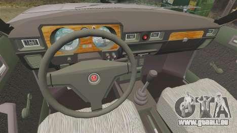 Gaz-31029 taxi pour GTA 4 Vue arrière