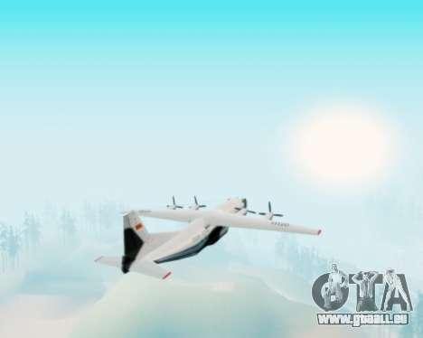 L'Antonov-12 de Aeroflot pour GTA San Andreas vue arrière