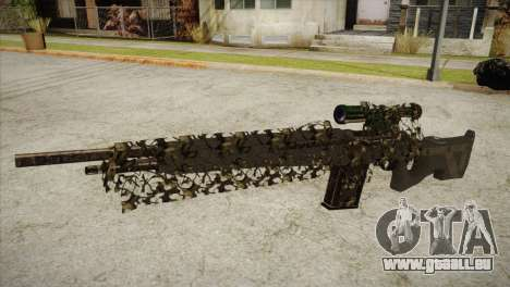 Sniper M-14 With Camouflage Grid pour GTA San Andreas