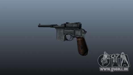 Mauser C96 pistolet Self-loading pour GTA 4 secondes d'écran
