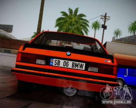 BMW E24 M635 1984 pour GTA San Andreas vue de dessus