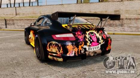Porsche GT3 RSR 2008 Ddevil pour GTA 4 Vue arrière de la gauche